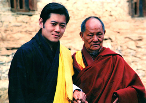 Khenpo Karpo Rinpoche with the 5th King of Bhutan